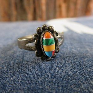 Sterling Silver Southwest Wheeler Inlay Ring